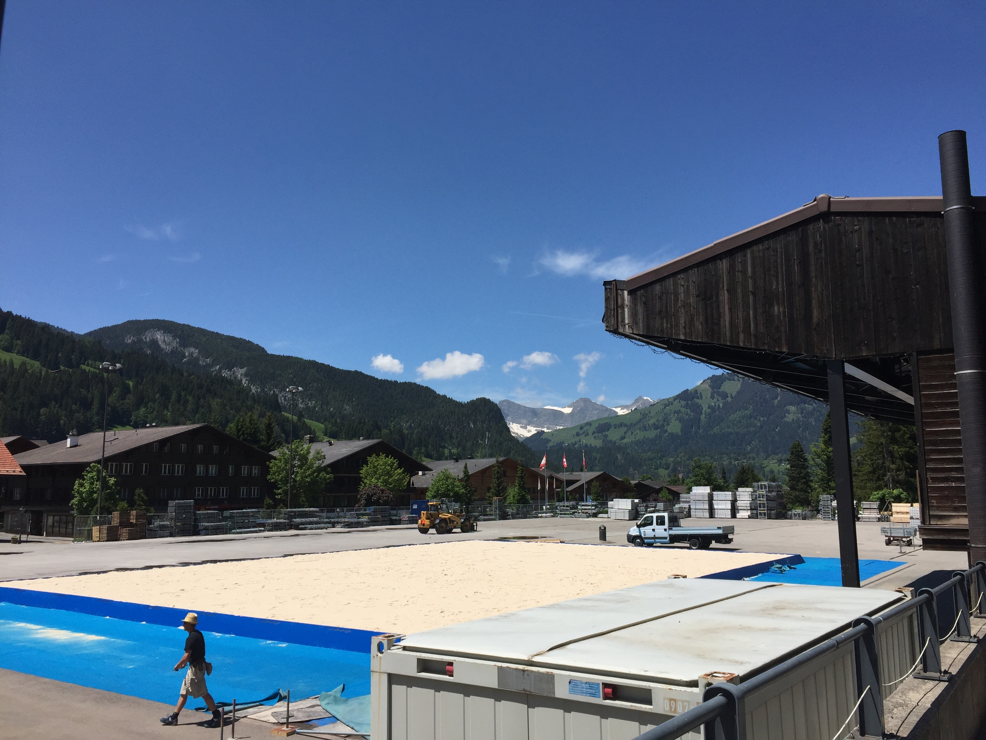 Hard work has already started in Gstaad. Photocredit: Swatch Major Series