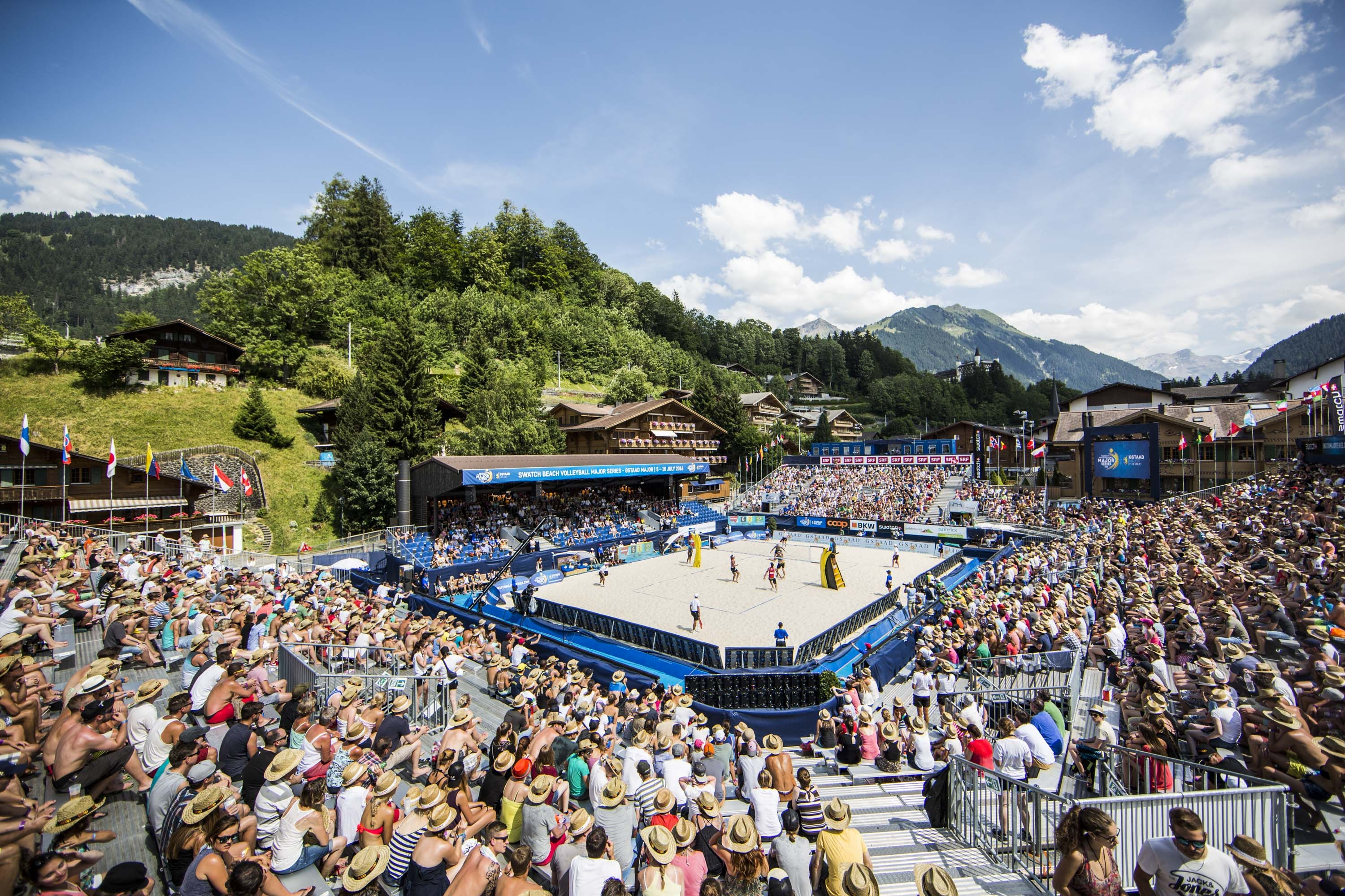 The glorious, packed, picture-postcard of Gstaad last year. Photocredit: Andreas Langreiter.