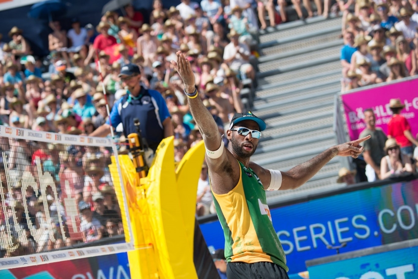 Ace in the pack: Evandro delivered 23 aces – more than any other player in Gstaad. Photocredit: Mihai Stetcu.