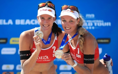 Swiss girls warm-up for Gstaad with silver