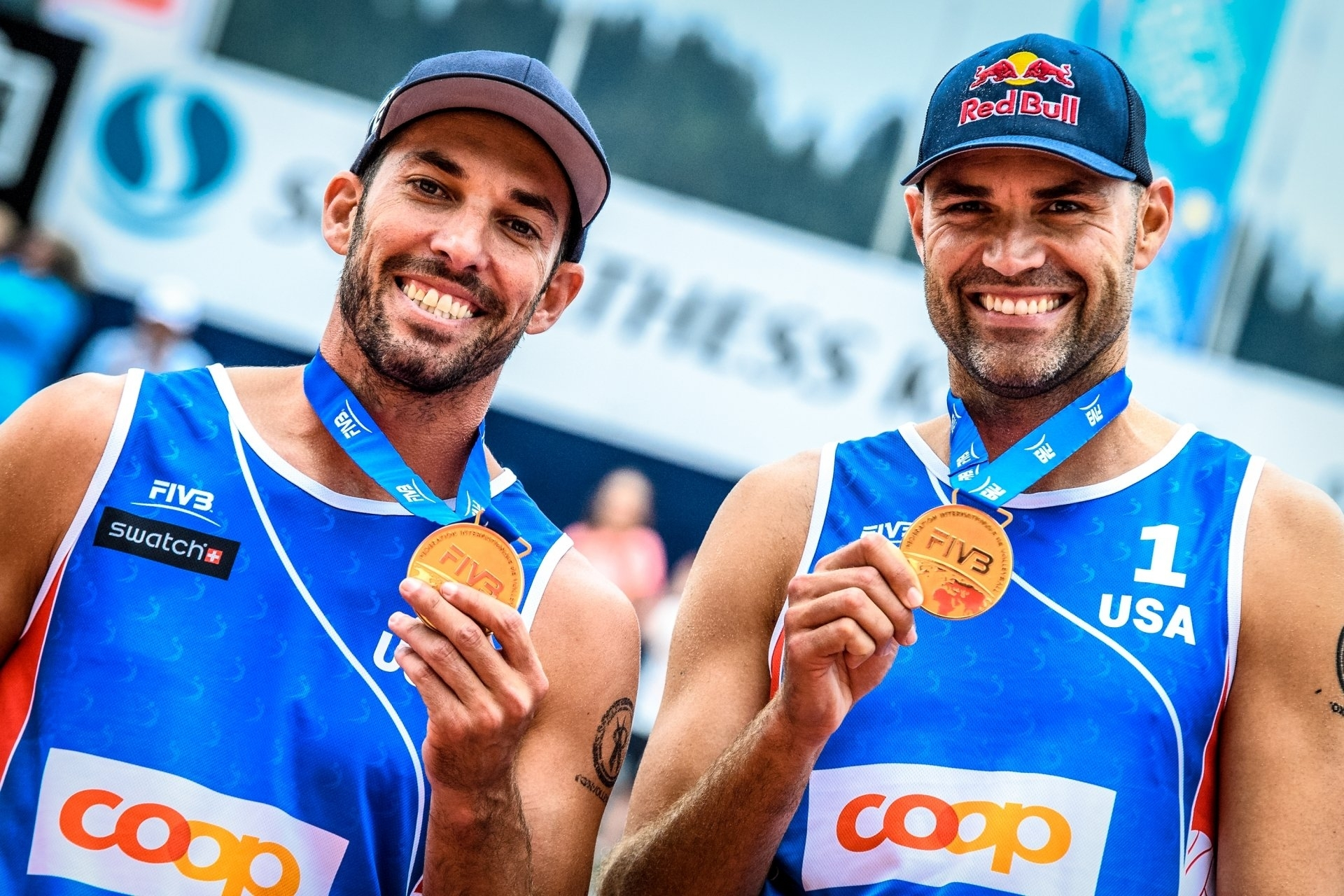 Nick Lucena (left) and Phil Dalhausser have reached the Gstaad Major final two years in a row - and captured gold last year