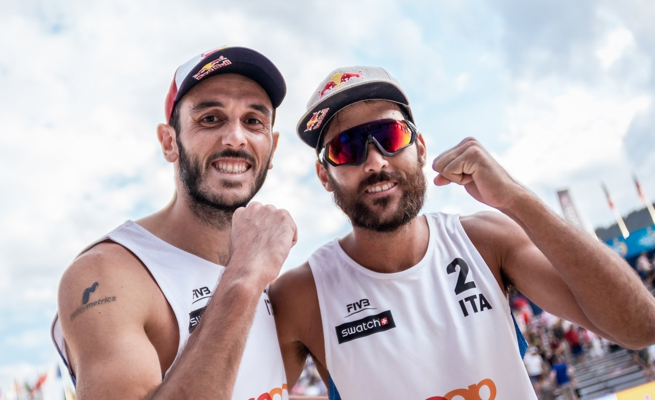 Nicolai (left) and Lupo are going for gold in Gstaad