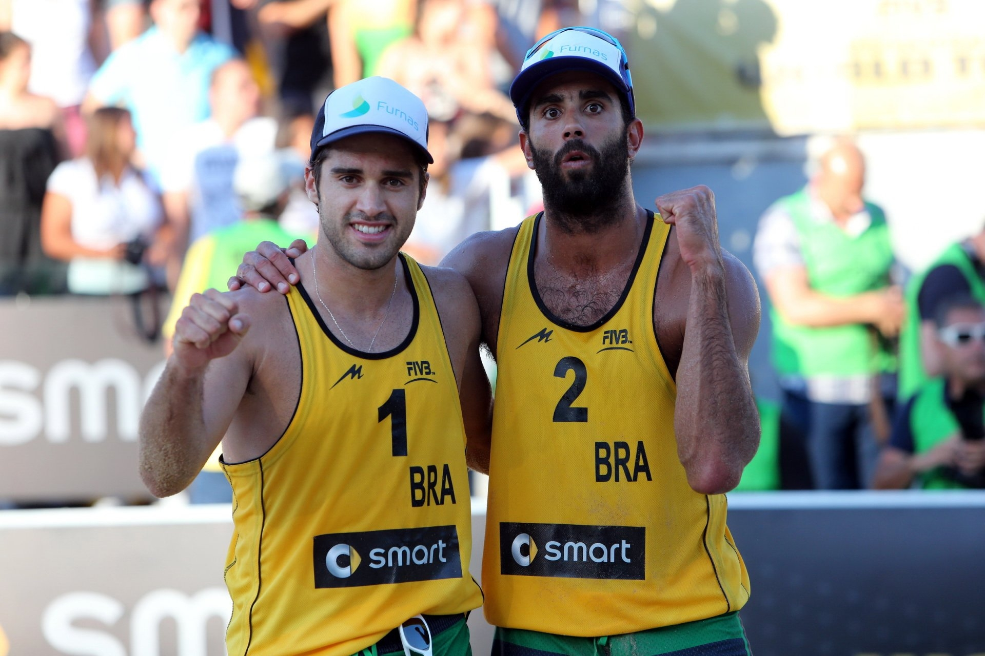 Bruno and Pedro enjoyed success in their first sting together and are looking forward to more (Photocredit: FIVB)