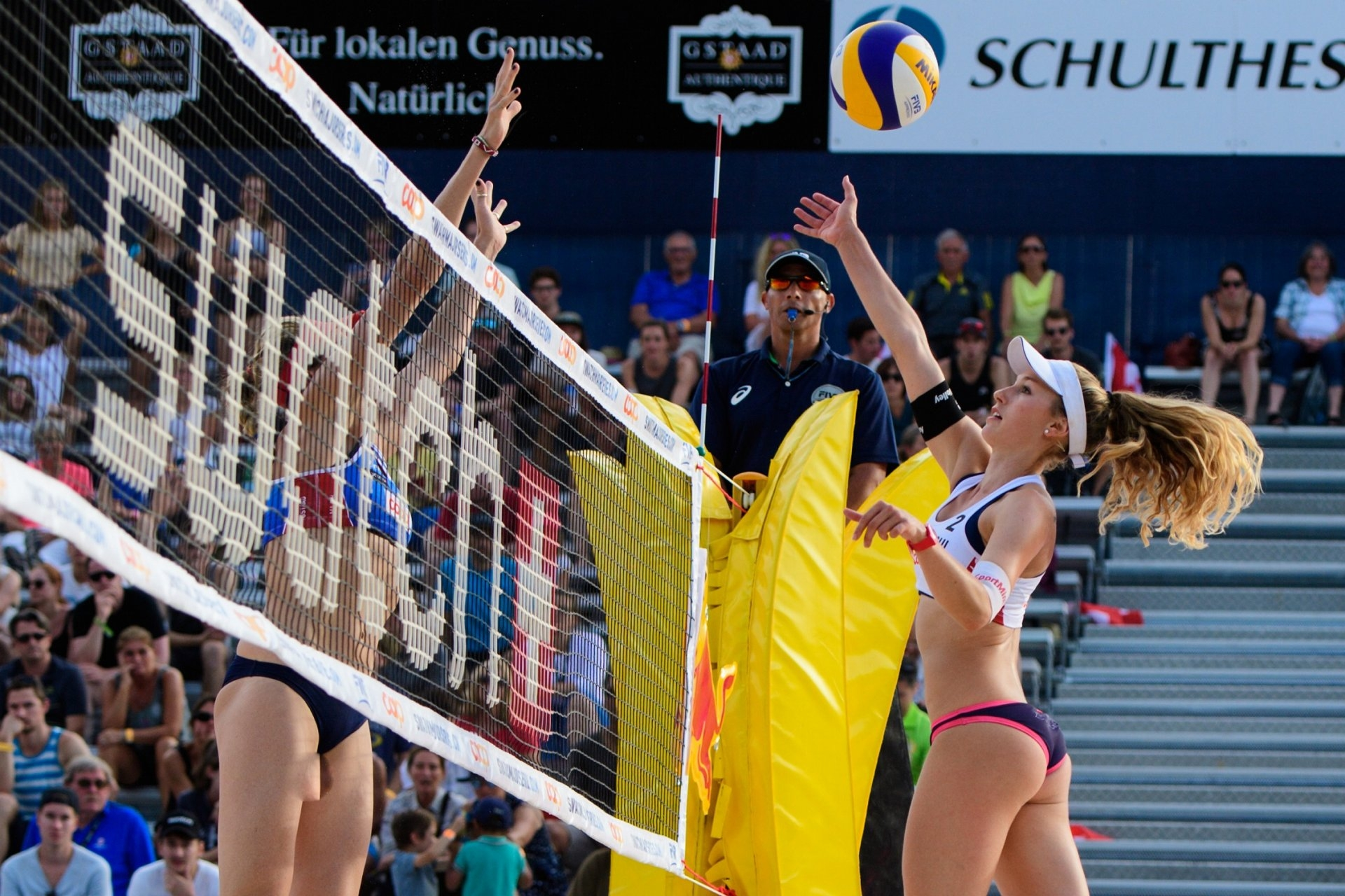 In 2017, the Swiss were eliminated by Americans Kerri Walsh Jennings and Nicole Branagh (Photocredit: FIVB)