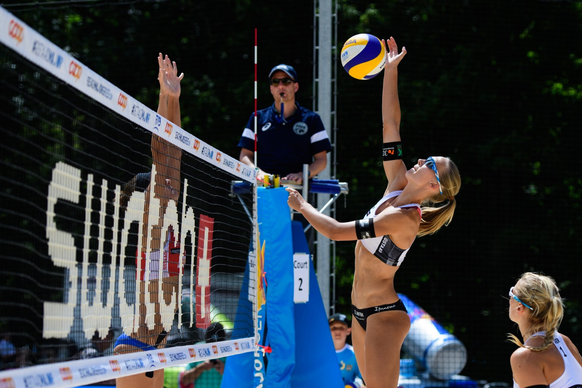 Germany's Sandra Ittlinger spikes during the qualification tournament (Photocredit: FIVB)