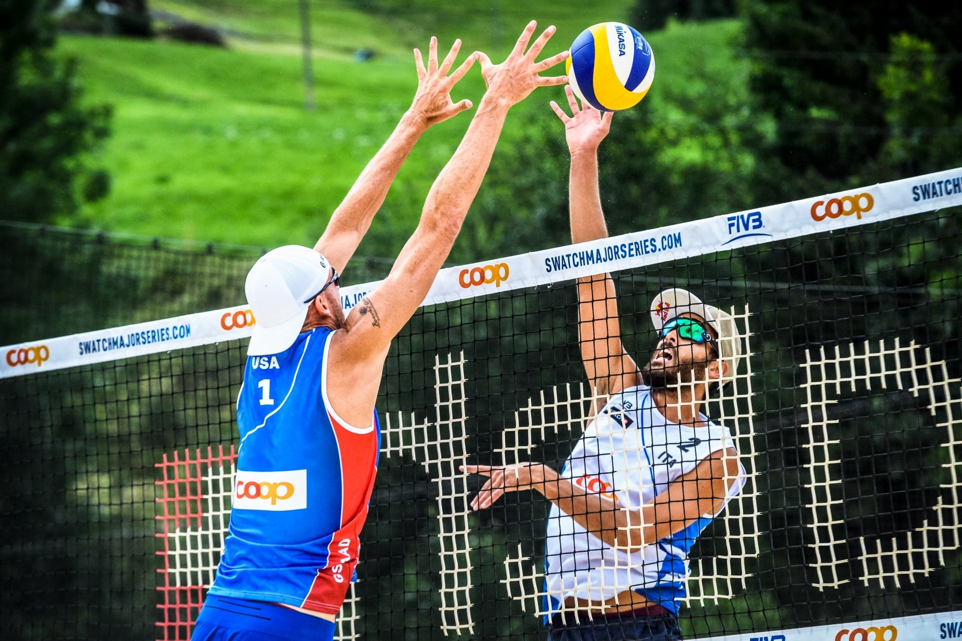 Italians Lupo/Nicolai and Americans Crabb/Gibb will meet in Gstaad's pool play for the second straight year