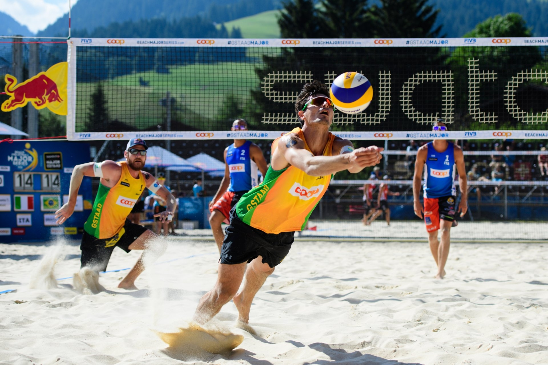Brazilians Alison and Andre will try to bounce back against the Latvians