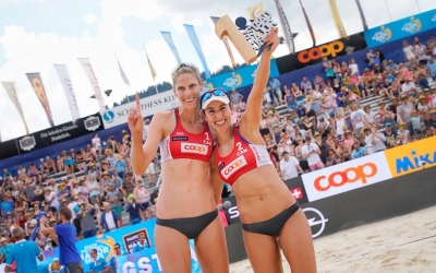 Gstaad gold for Sarah and Melissa